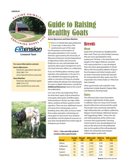 Guide to Raising Healthy Goats