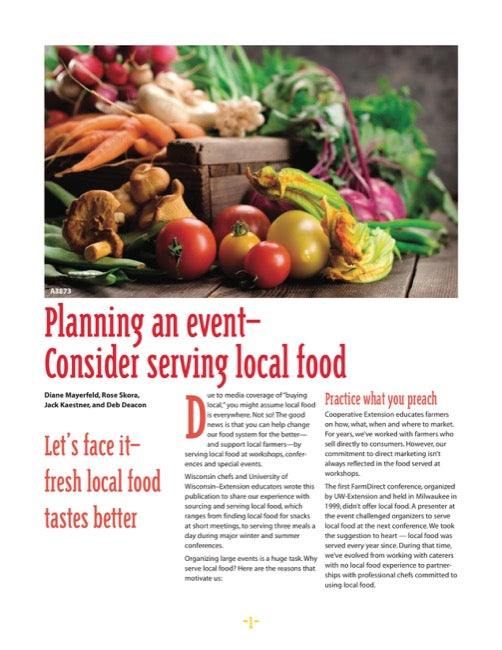 Planning an Event—Consider Serving Local Food