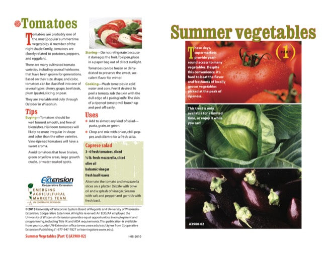Summer Vegetables (Part 1)