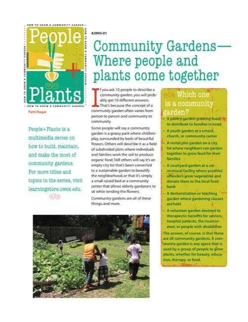 Community Gardens—Where People and Plants Come Together