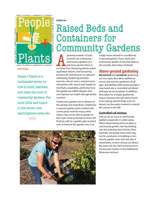 Raised Beds and Containers for Community Gardens