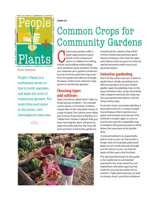 Common Crops for Community Gardens