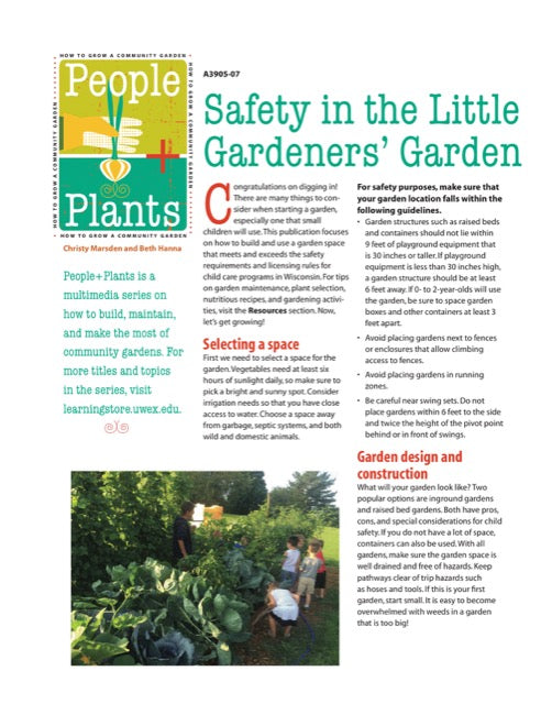 Safety in the Little Gardeners' Garden