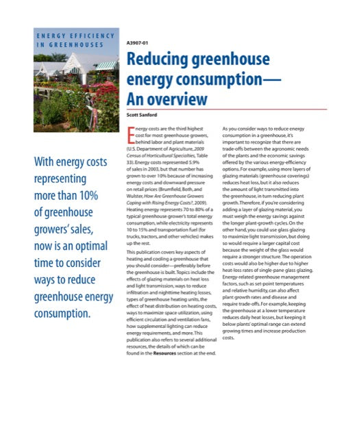 Reducing Greenhouse Energy Consumption: An Overview