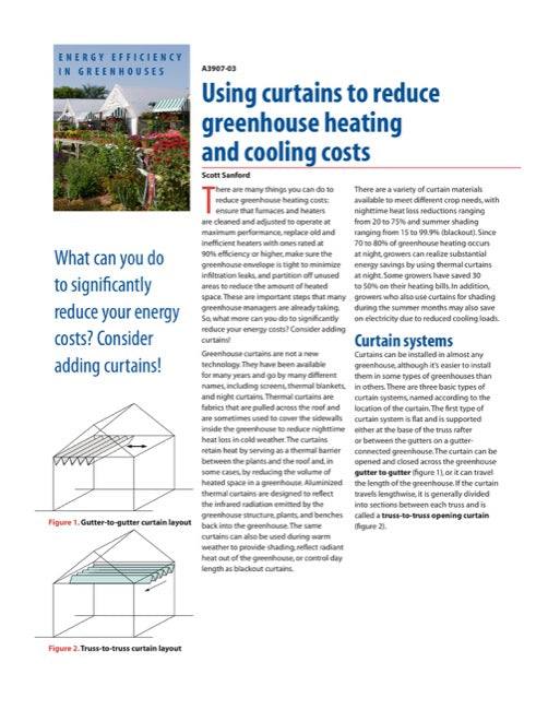 Using Curtains to Reduce Greenhouse Heating and Cooling Costs