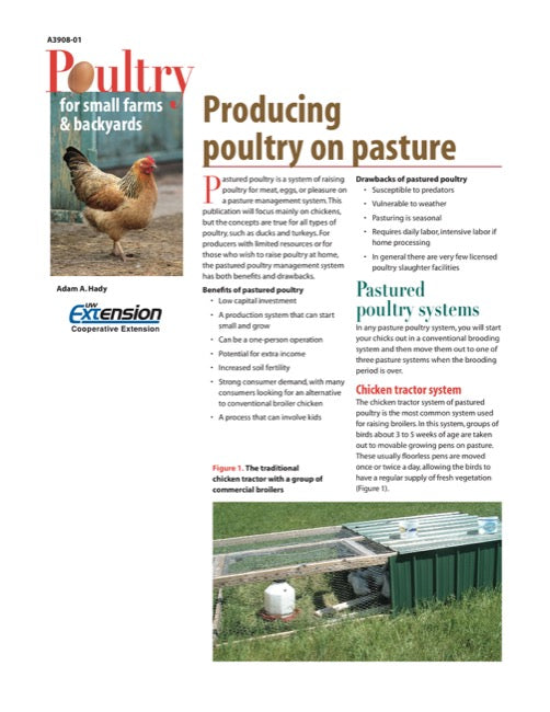 Producing Poultry on Pasture