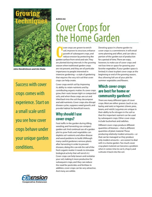 Cover Crops for the Home Garden