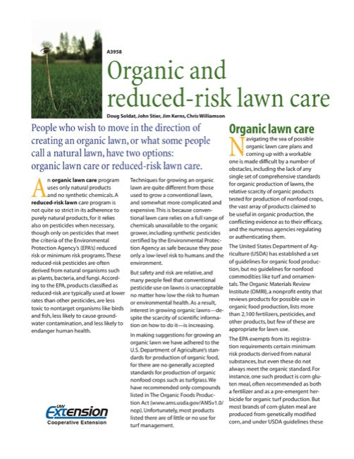 Organic and Reduced-Risk Lawn Care