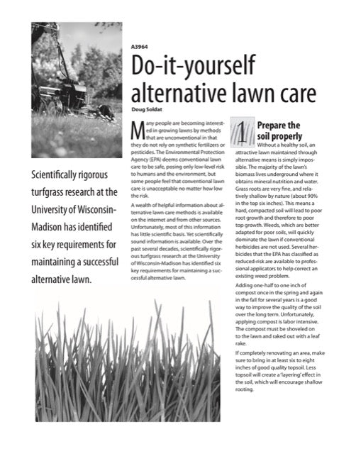 Do-It-Yourself Alternative Lawn Care