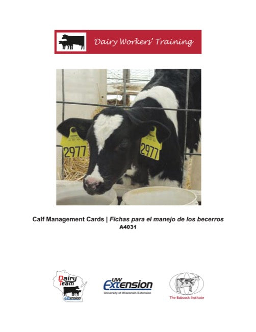 Dairy Workers' Training Calf Management Cards