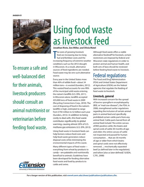 Using Food Waste as Livestock Feed