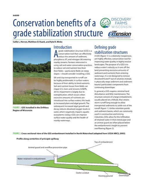 Conservation Benefits of a Grade Stabilization Structure