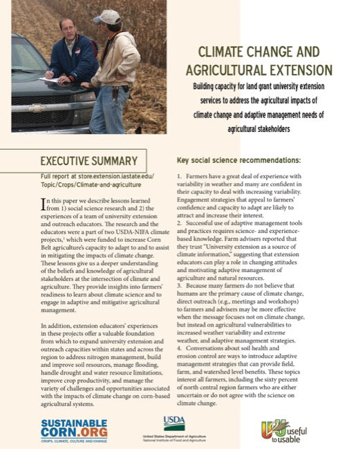 Climate Change and Agricultural Extension - Executive Summary