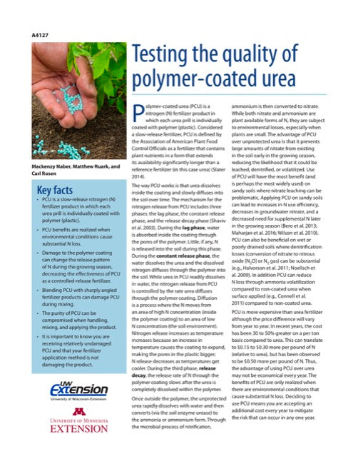 Testing the Quality of Polymer Coated Urea