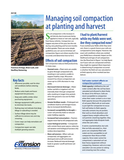Managing Soil Compaction at Planting and Harvest