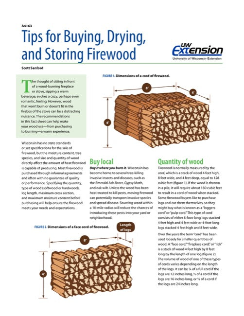 Tips for Buying, Drying, and Storing Firewood