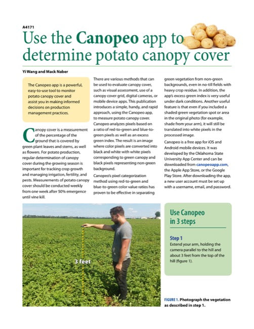 Use the Canopeo App to Determine Potato Canopy Cover