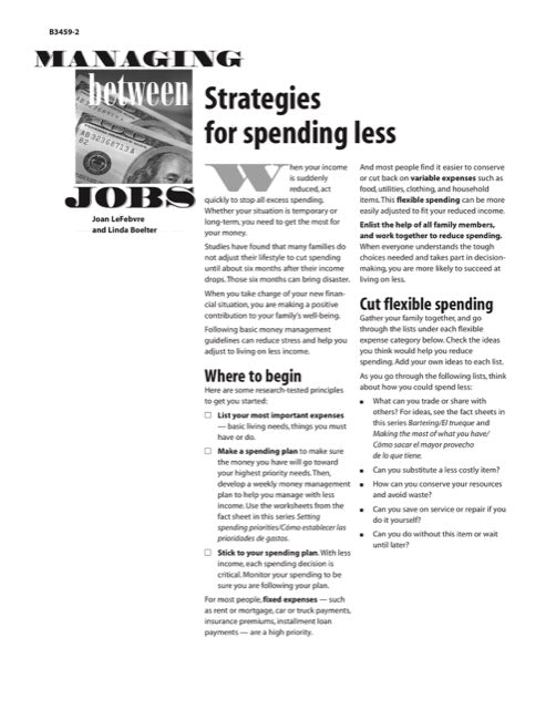 Managing Between Jobs: Strategies for Spending Less