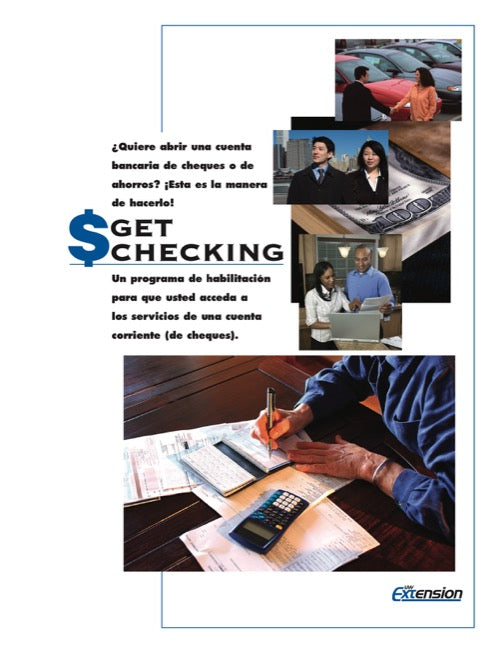 Get Checking Workbook and Check Register (Spanish)