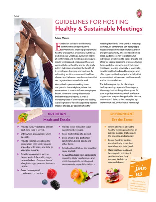 Guidelines for Hosting Healthy and Sustainable Meetings