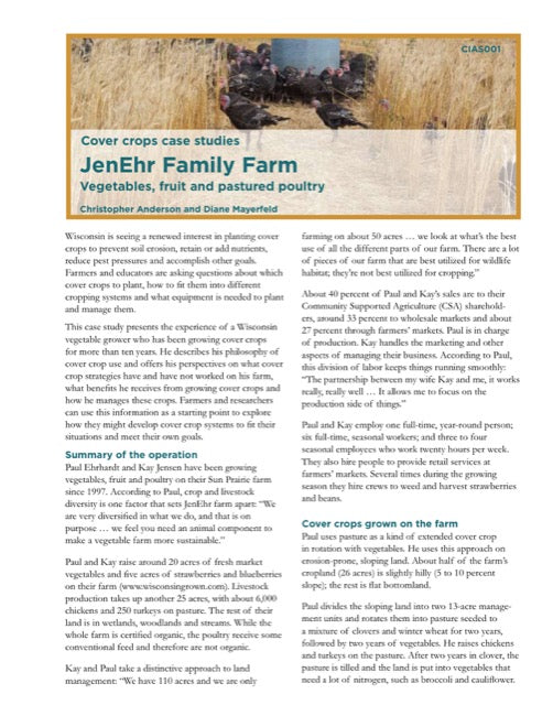 Cover Crops Case Studies: JenEhr Family Farm