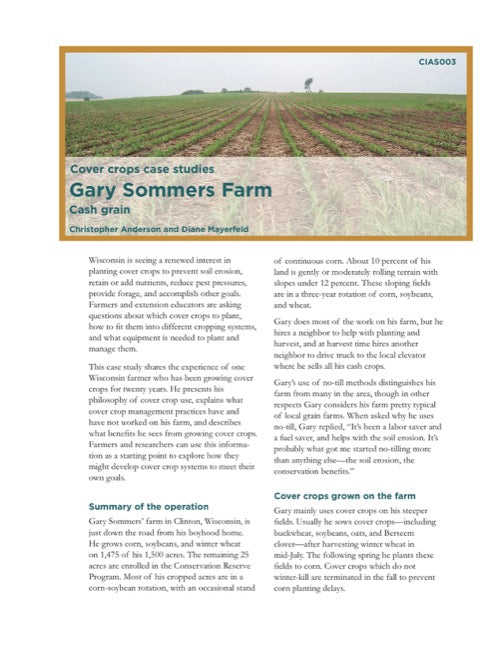 Cover Crops Case Studies: Gary Sommers Farm