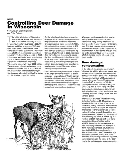 Controlling Deer Damage in Wisconsin
