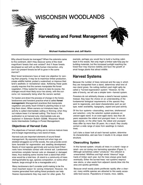 Harvesting and Forest Management