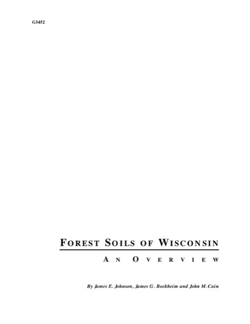 Forest Soils of Wisconsin: An Overview