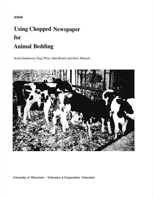 Using Chopped Newspaper for Animal Bedding