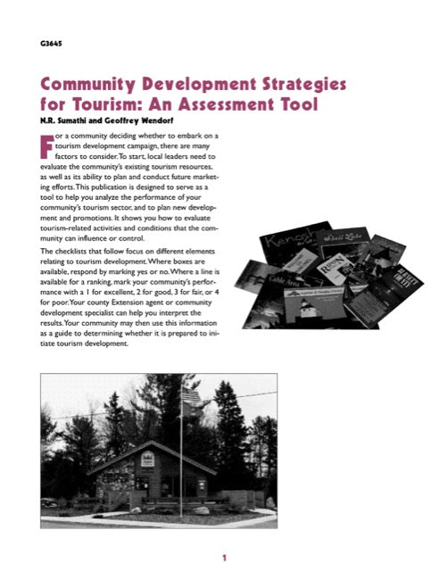 Community Development Strategies for Tourism
