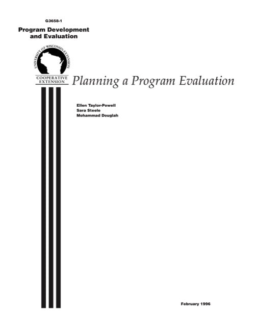 Planning a Program Evaluation