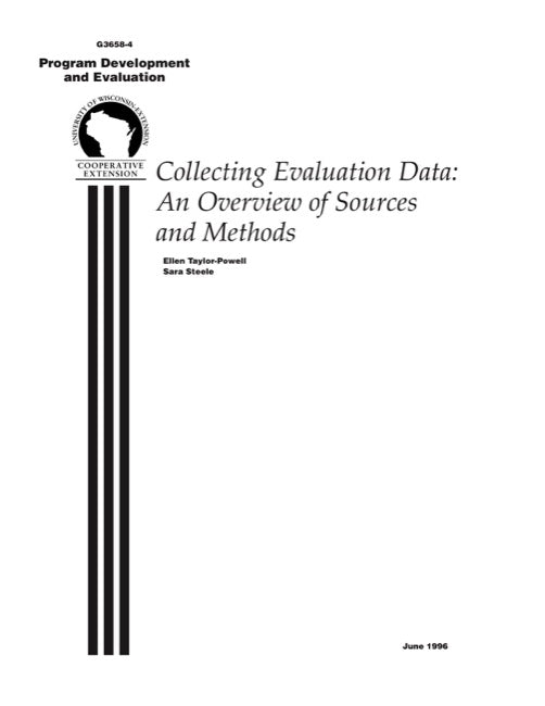 Collecting Evaluation Data: An Overview of Sources and Methods