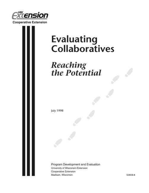 Evaluating Collaboratives: Reaching the Potential