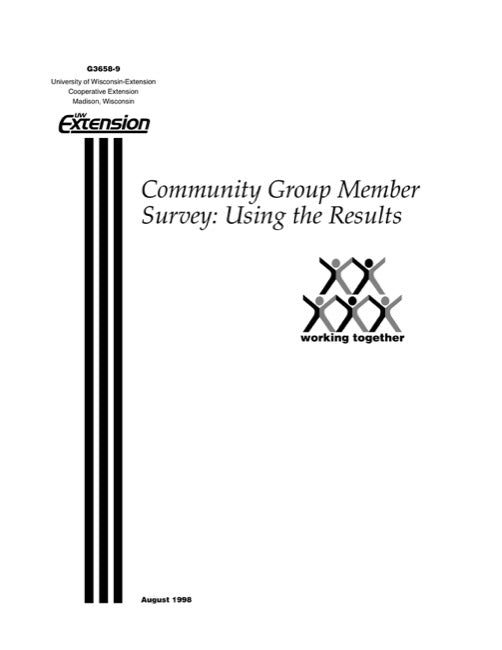 Community Group Member Survey: Using the Results