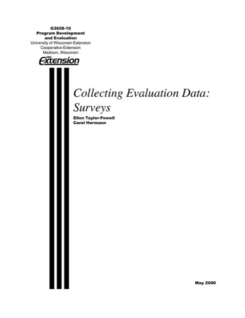 Collecting Evaluation Data: Surveys