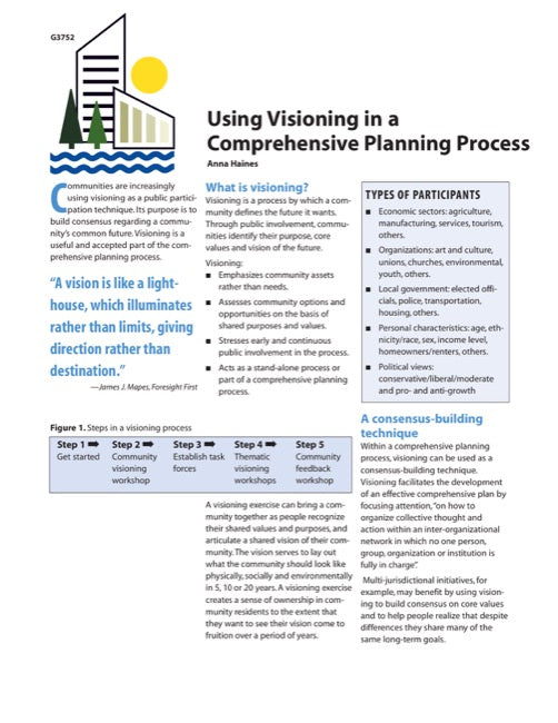 Using Visioning in a Comprehensive Planning Process