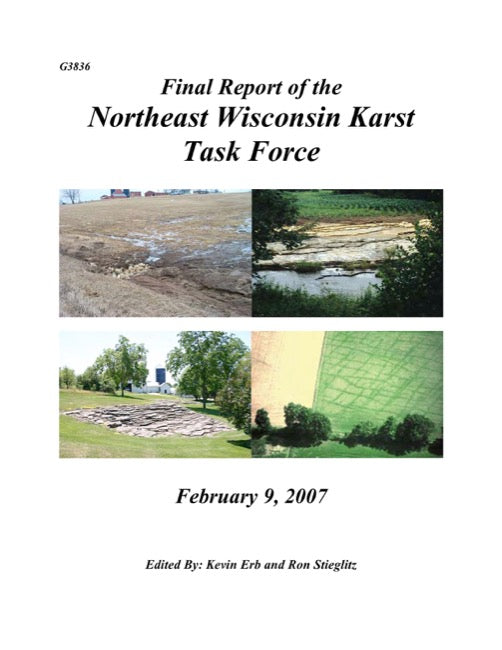 Final Report of the Northeast Wisconsin Karst Task Force