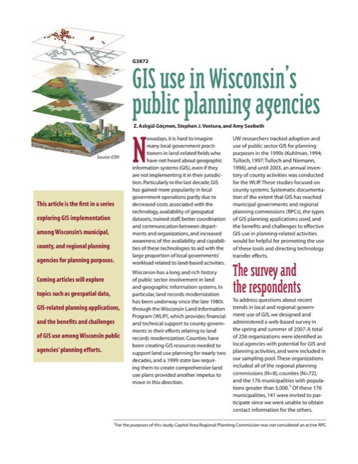 GIS Use in Wisconsin's Public Planning Agencies