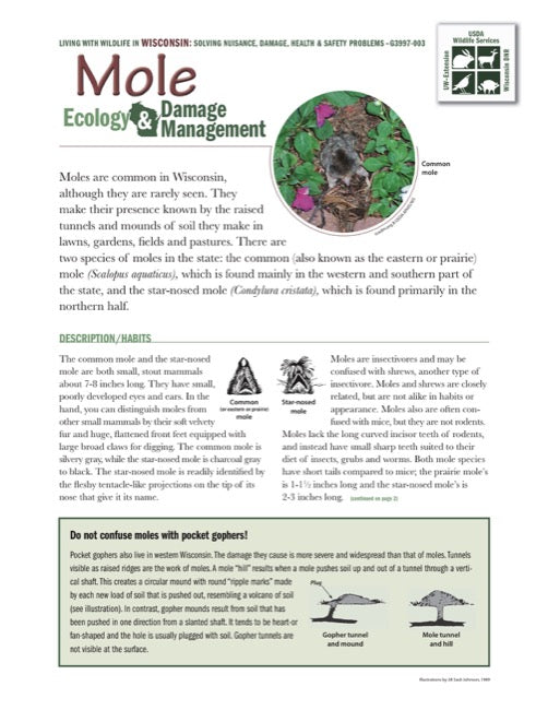 Mole Ecology and Damage Management