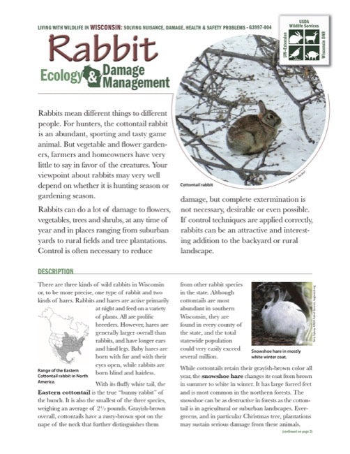 Rabbit Ecology and Damage Management