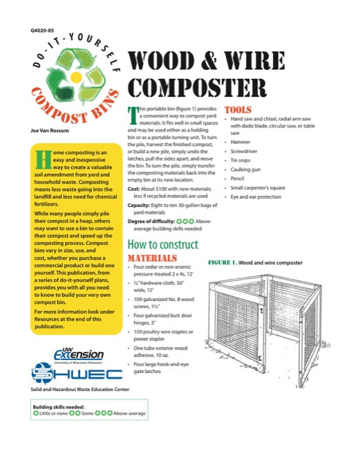 Wood & Wire Composter