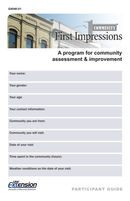 Community First Impressions Participant Guide