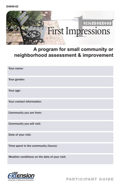 Neighborhood First Impressions Participant Guide