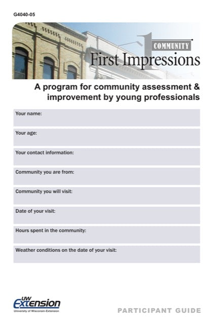Community First Impressions Participant Guide for Young Professionals