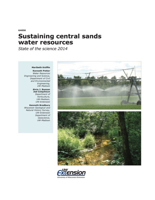 Sustaining Central Sands Water Resources
