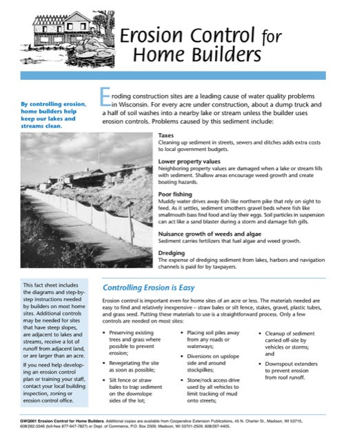Erosion Control for Home Builders