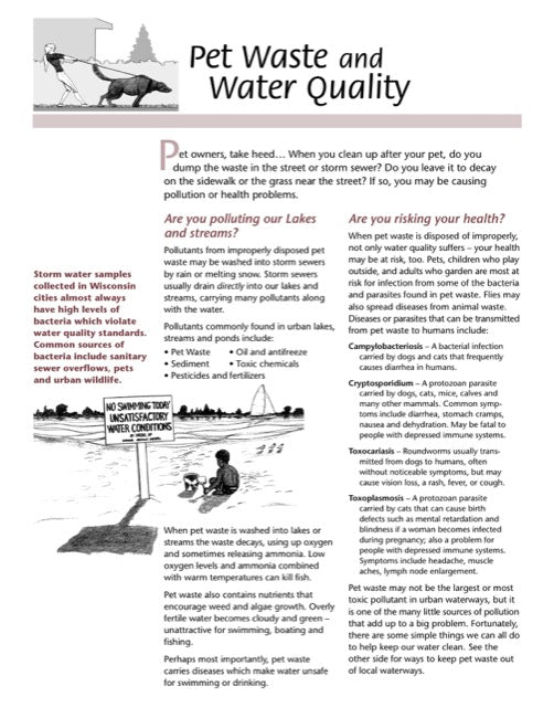 Pet Waste and Water Quality