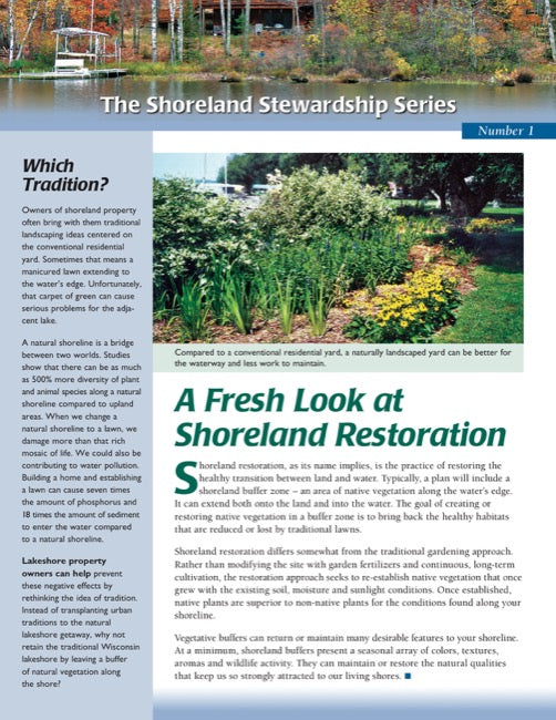 Fresh Look at Shoreland Restoration