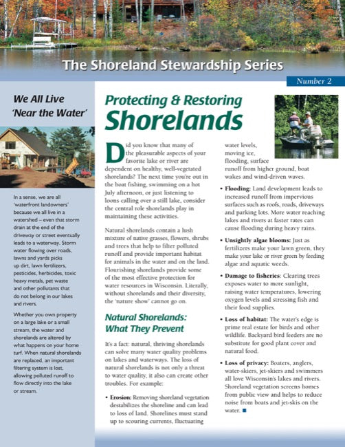 Protecting and Restoring Shorelands